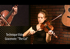 "Scottish Grace Note Tutorial – ""The Cut"""