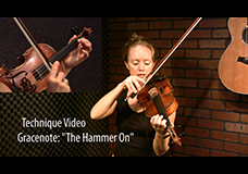 "Scottish Grace Note Tutorial – ""The Hammer On"""