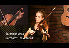 "Scottish Grace Note Tutorial – ""The Waterfall"""