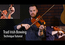 Trad Irish Fiddle Bowing Tutorial